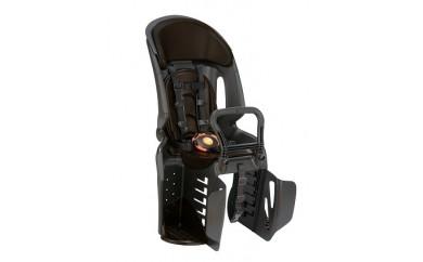 自転車用ヘッドレスト付きコンフォートリヤチャイルドシート ブラック・こげ茶 RBC-011DX