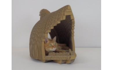 【B18】ネコちゃんも大満足 爪とぎ&にゃんBOX(さめ)