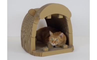 【B19】ネコちゃんも大満足 爪とぎ&にゃんBOX(かば)