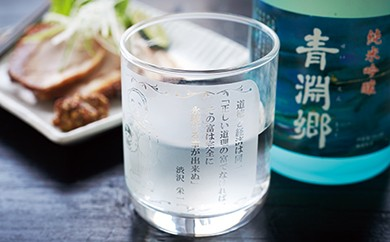 [№5674-0237]渋沢栄一の言葉を味わう 名言グラスと純米酒セット