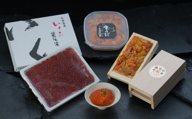[Ka403-D005]【ウニとイクラの食べ比べ!】塩水うに100g&生うに折100g×1折&いくら醤油漬け400g