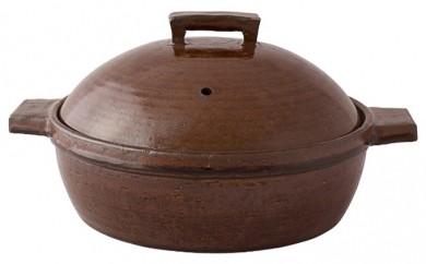[№5831-0077]伊賀焼 「ビストロ蒸し鍋 アメ2~3人用」