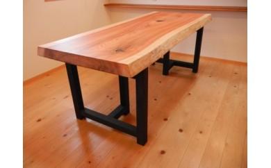 【ふるさと納税】上質国産杉の1枚板ダイニングテーブル(2WAY)