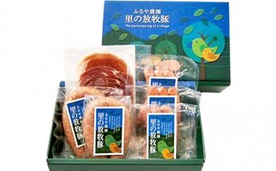 [№5902-0015]里の放牧豚 ソーセージ生ハムギフトセット