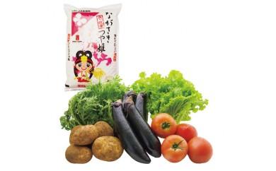011-04壱岐産米(つや姫・旬の野菜)  3,000pt
