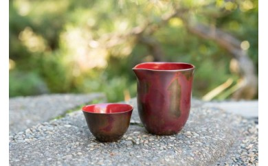 [E902]斑紫銅酒器&片口 Tanrei