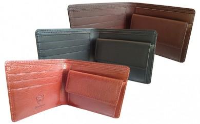 [№4631-0974]日本製2つ折り革財布(栃木レザー)