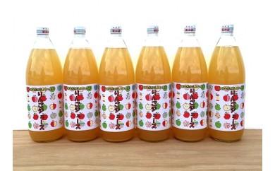 [№5737-0080]リンゴジュース(1000ml) 6本