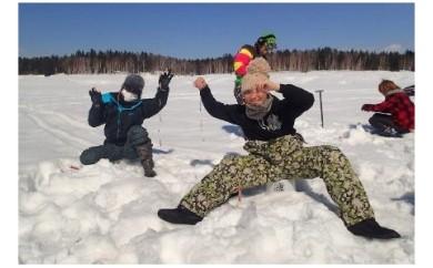 [A-75] 【幌加内町】北海道立自然公園 朱鞠内湖でワカサギ釣り!