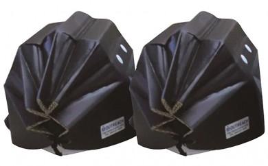 [№5862-0242]軽くて強い!アウトリーチ防災用帽子2個セット(黒×2)