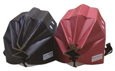 [№5862-0244]軽くて強い!アウトリーチ防災用帽子2個セット(黒、赤)