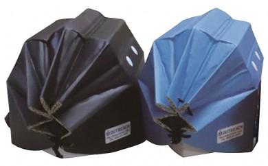 [№5862-0243]軽くて強い!アウトリーチ防災用帽子2個セット(黒、青)