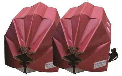 [№5862-0247]軽くて強い!アウトリーチ防災用帽子2個セット(赤×2)
