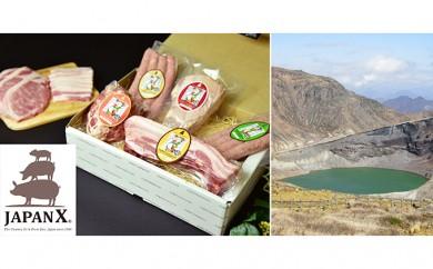 [№5800-0072]宮城蔵王産  牧場直送 JAPAN X グリルセットB/計3.4kg