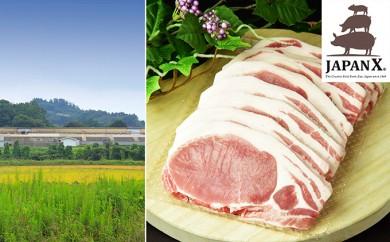 [№5800-0068]宮城蔵王産 牧場直送 JAPAN X 豚ロースステーキ15枚/計1.5kg
