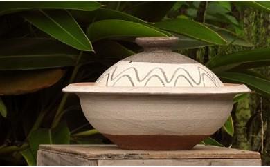 沖縄の伝統工芸 やちむん土鍋 指掻き