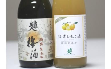 13A-49 【南部美人】糖類無添加シリーズ 梅酒&ゆずレモン酒セット