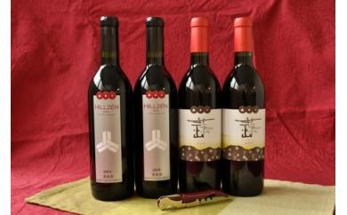 D-10 ひるぜんワイン赤・山葡萄赤 4本セット(寄付額50,000円)