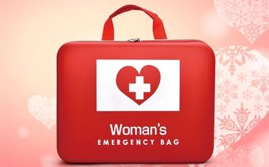 D77 【女性のための防災バッグ】もしもの時に備えて強い味方!
