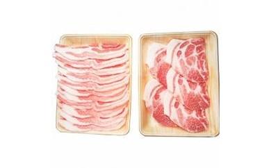 信州飯田のブランド豚「幻豚」 焼肉用バラ肉&肩ロースステーキ(合計1kg)セット