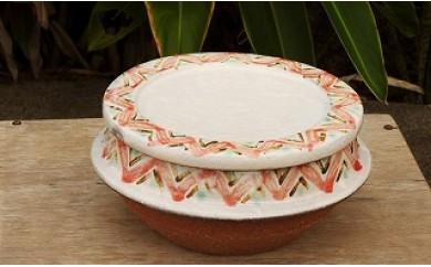 沖縄の伝統工芸 やちむんビビンバ鍋 桃色