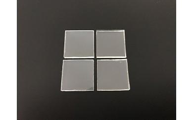 耐震マット(透明) 25mm角×厚さ3mm:4個