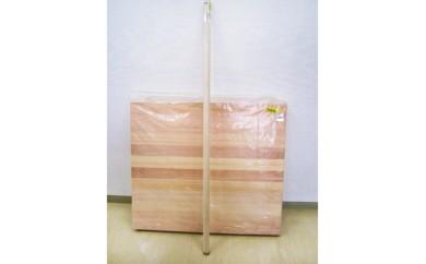 No.035 五霞町産蕎麦で手打ちを・そば道具(麺板・めん棒)