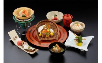 CB717 山のホテル 日本料理レストラン「つつじの茶屋」【季節のミニ懐石】ペアランチ券(2名様分)【1,530pt】
