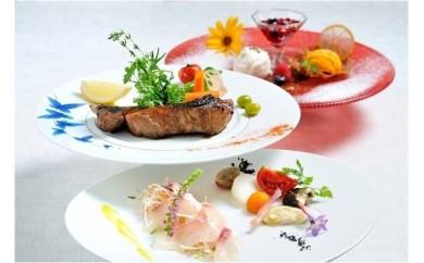 CB721 箱根ハイランドホテル レストラン「ラ・フォーレ」【薪火焼きコース】ペアランチ券(2名様分) 【1,530pt】