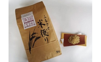 【B-003】半年間(6カ月)毎月届く!自然栽培米「角田玄米」 5kg