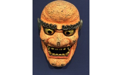 E-9 宮崎県伝統工芸品「椎葉神楽面 山の神」