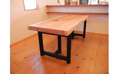 上質国産杉の1枚板ダイニングテーブル(2WAY)第2弾
