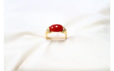 ●K-011 赤珊瑚デザインリング