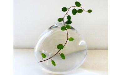 No.032 みずのうつわ(花器)大サイズ / 花瓶 ガラス 手造り 千葉県