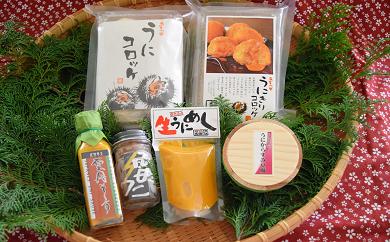 (565)【熊本県災害支援品】熊本県天草「生うに本舗 丸健水産」 うにずくしセット