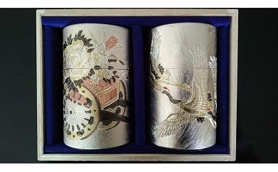 V5-OE 【極上】「八女伝統本玉露80g×2、刻匠缶×2」セット【全国茶品評会玉露の部出品】