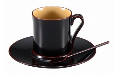 輪島塗 コーヒーカップ(溜)