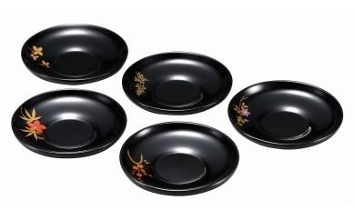 輪島塗 茶托(草花蒔絵①)