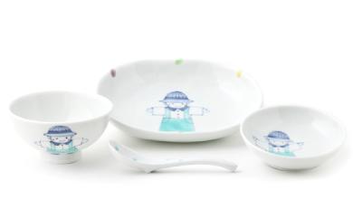 【有田焼】福珠窯 子供食器 ピクニック男の子 4点セット