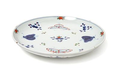 【有田焼】福珠窯の人気定番シリーズ「天啓花蝶紋」4.5寸丸皿  4個