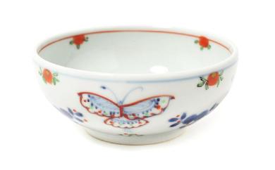 【有田焼】福珠窯の人気定番シリーズ「天啓花蝶紋」4寸鉢  4個