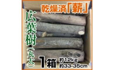 BB335 乾燥済「薪」(たきぎ・まき)約12kg/約33~35cm/丸太/広葉樹 【500pt】
