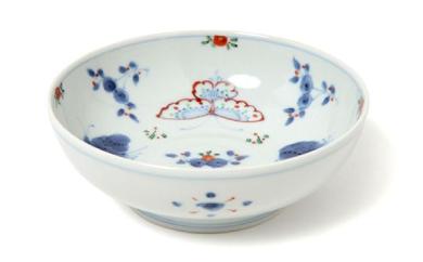 【有田焼】福珠窯の人気定番シリーズ「天啓花蝶紋」なます皿 1個
