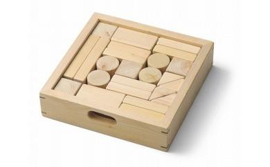 能登ヒバの積み木(24ピース、木箱付)