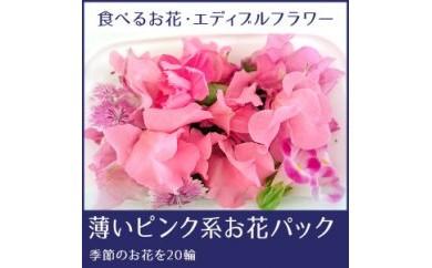 BB355 食べるお花・エディブルフラワー/薄いピンク系約20輪/よしむら農園【350pt】