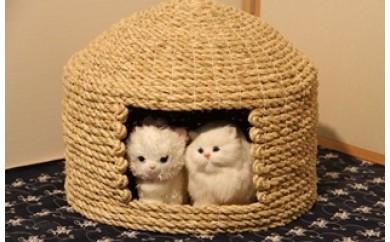 I29001 愛猫の和風高級マンション!国東猫ちぐら(ダブル)・通