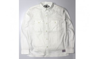 [№5631-0112]GONZO SURFダブルガーゼボタンシャツ オフホワイト M