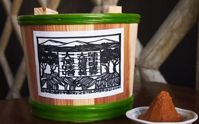 大徳屋麹店の赤味噌 3㎏ 木樽詰め