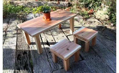 【eco】間伐材で作ったミニテーブルセット
