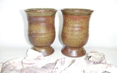 牡蠣殻100%釉ビアグラス